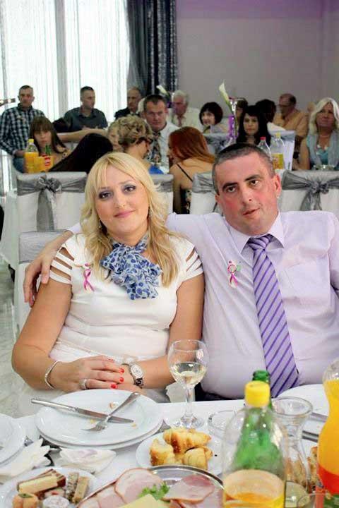 Na jednoj od svadbi: Ilija sa suprugom Rankom