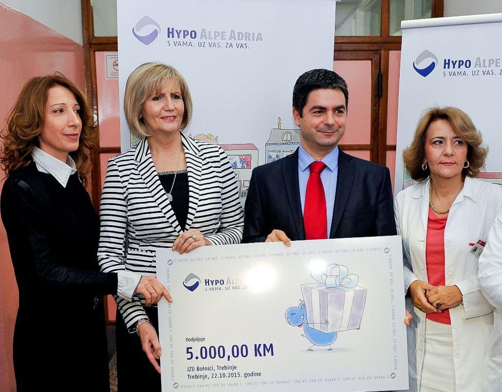 Hipo banka donirala opremu Odjeljenju za pedijatriju trebinjske bolnice (Foto: Moja Hercegovina)