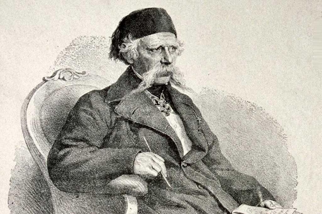 Vuk Karadžić (Litografija: Josef Kriehuber)
