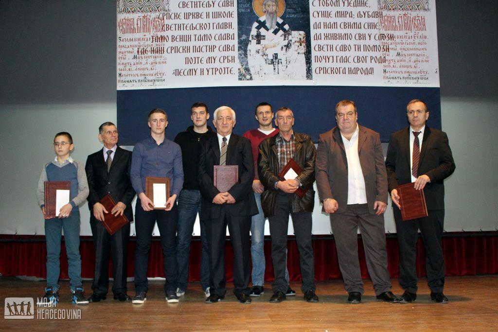 Ovogodišnji dobitnici svetosavskih priznanja i povelja Opštine Bileća (FOTO: Moja Hercegovina)