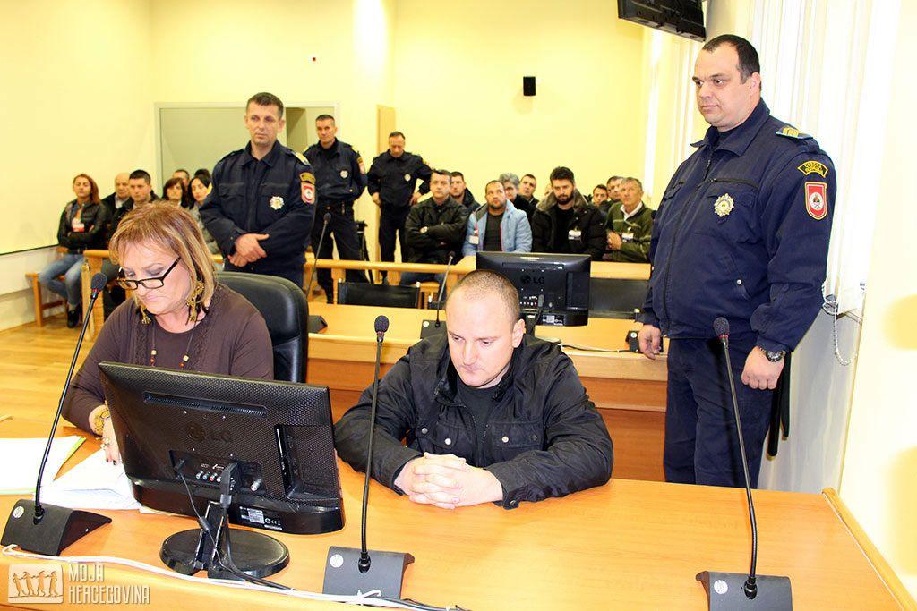 Nemanja Ilić na nastavku glavnog pretresa (FOTO: Moja Hercegovina)