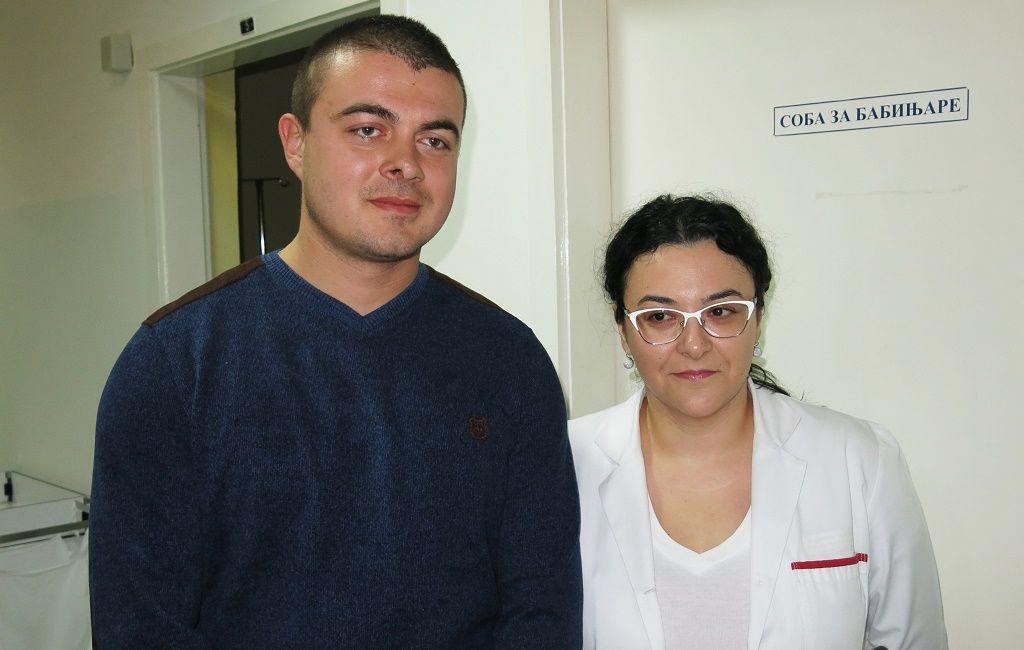 Odbornik Lazar Vučković i doktorka Sandra Knežević