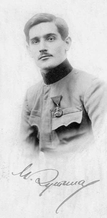 Милан Дутина - српски добровољац