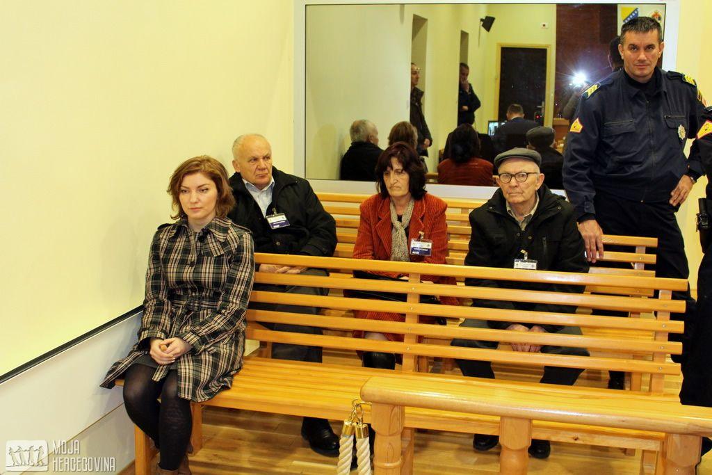 Ilićeva porodica i prijatelji na suđenju (FOTO: Moja Hercegovina)