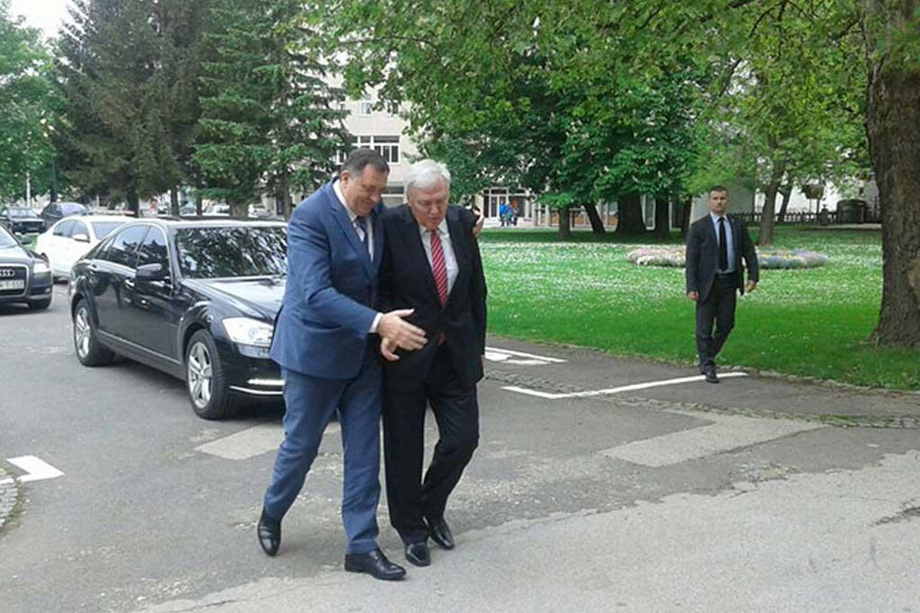 Dodik i Pavić u Prijedoru (foto: RTRS)