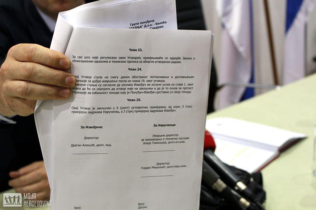 Ugovor o betoniranju tunela (FOTO: Moja Hercegovina)