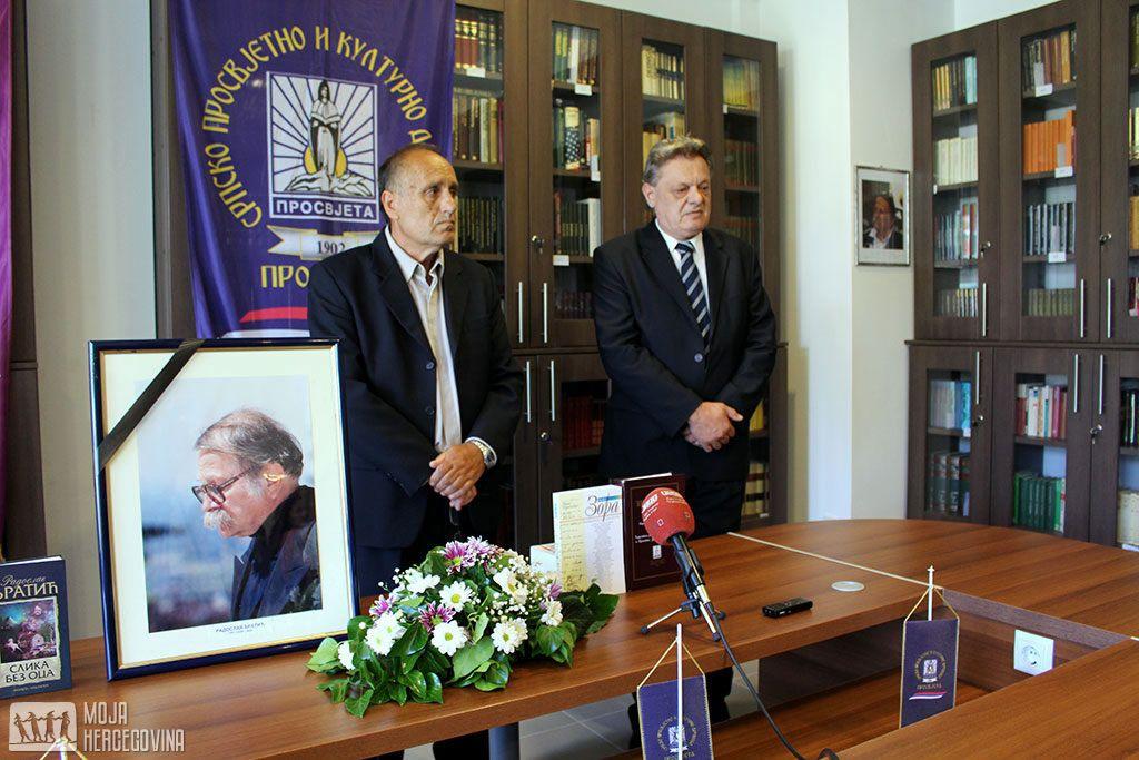 """Predstavnici bilećke """"Prosvjete"""" Nikola Baćević i Gajo Parežanin na komemoraciji (FOTO: Moja Hercegovina)"""