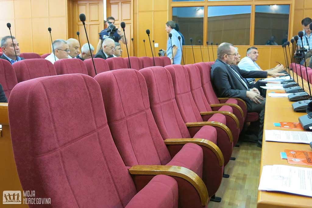 Opozicija nije došla na zasjedanje (Foto: Moja Hercegovina)
