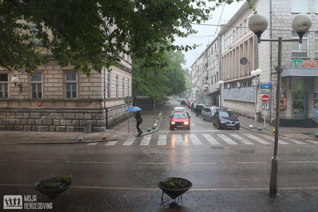 Kiša u Trebinju (FOTO: Moja Hercegovina/arhiv)