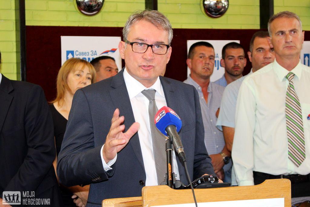 Mladen Bosić u Bileći (FOTO: Moja Hercegovina)