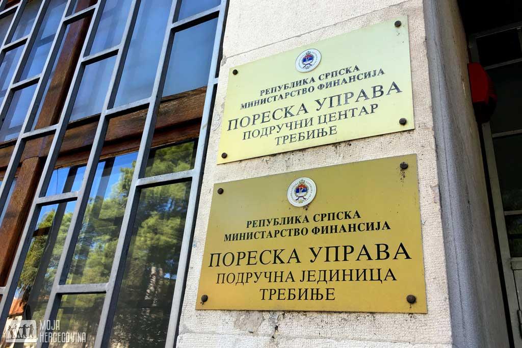 Poreska uprava RS, Područni centar Trebinje (FOTO: Moja Hercegovina)