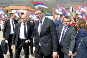 Aleksandar Vučić u posjeti Trebinju, april 2018. (FOTO Moja Hercegovina)