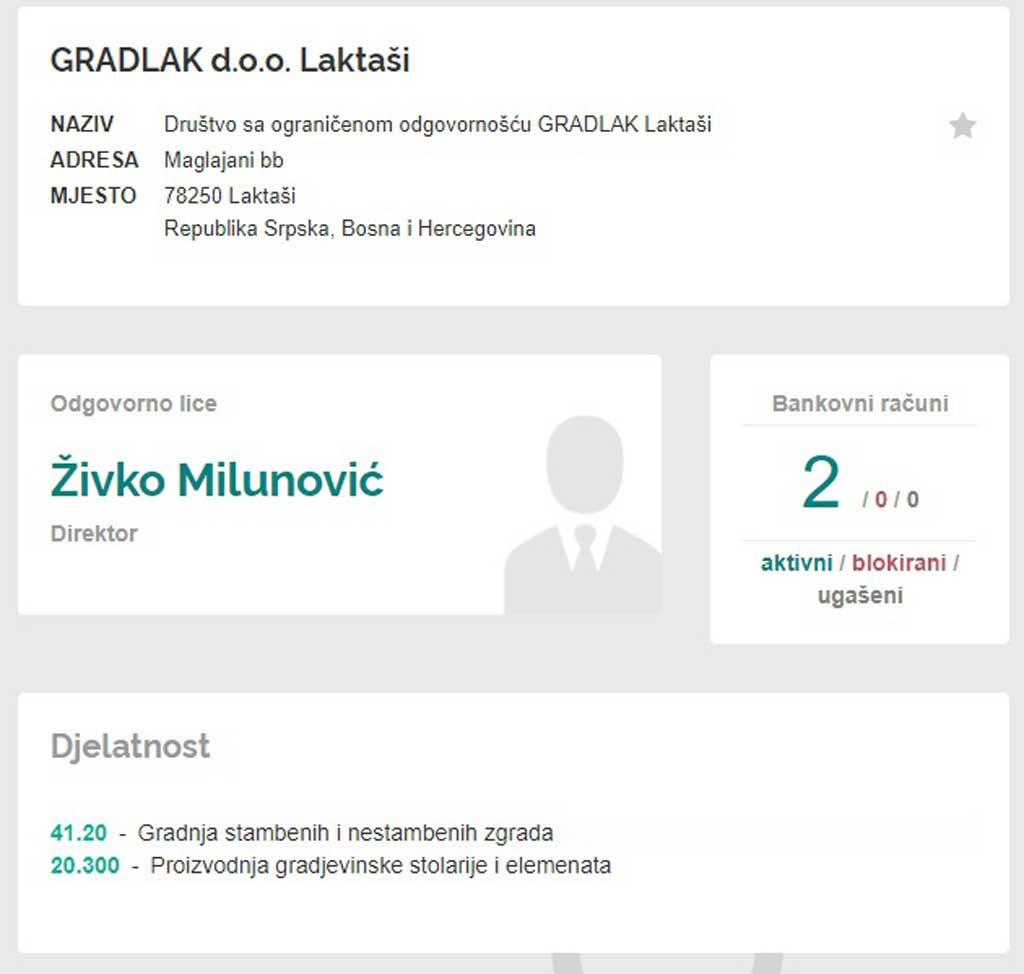 Profil firme Gradlak